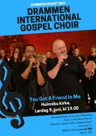 Poster for sommerkonsert med DIGC i Holmsbu 090618